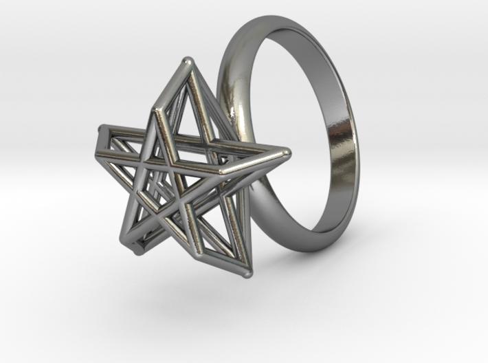 Pentagram Ring 3d printed