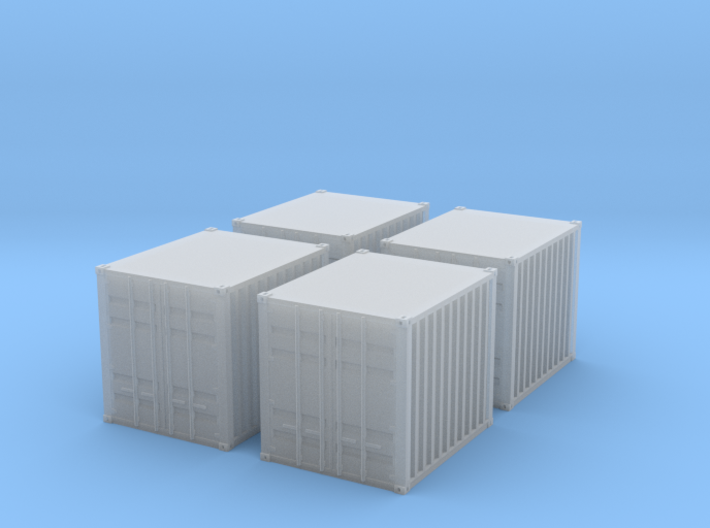 1:160 10 ft container 4 Baucontainer 3d printed