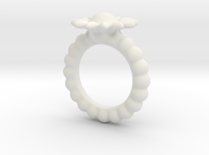 Flower-Ring-by-JamesMason 3d printed