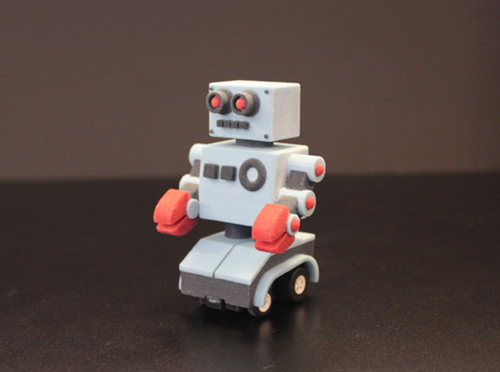Billy Bob the home made remote control robot 3d printed front b