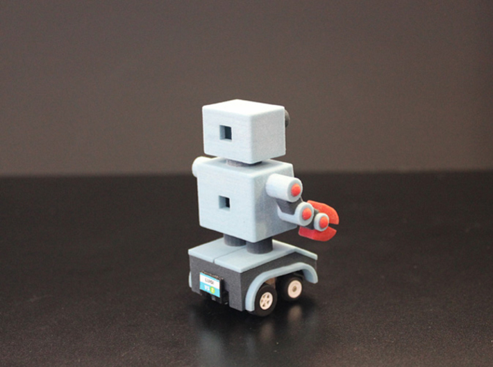 Billy Bob the home made remote control robot 3d printed back