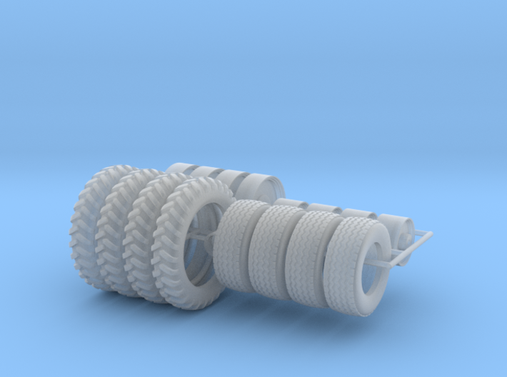 1/64 NH3 Applicator Wheels and Tires 3d printed