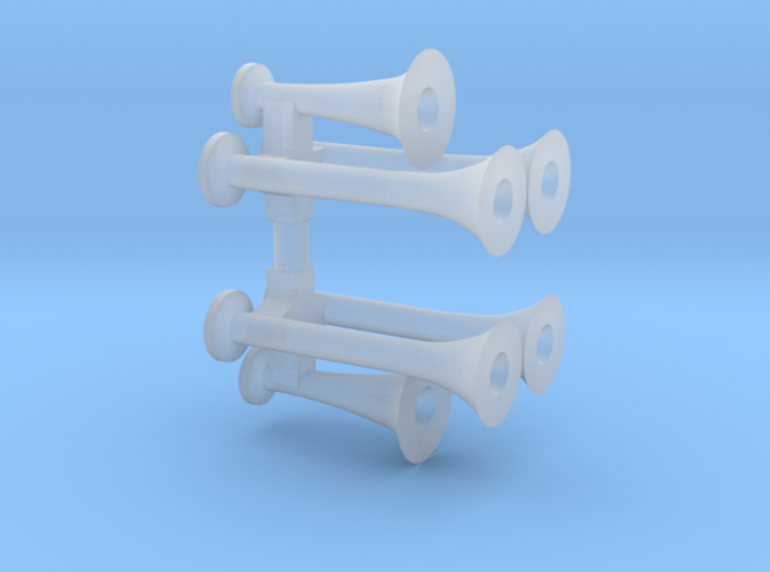 Train Horns 3d printed