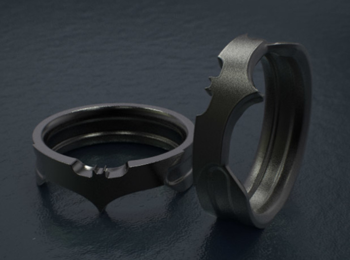 Size 7 Bat Ring 3d printed