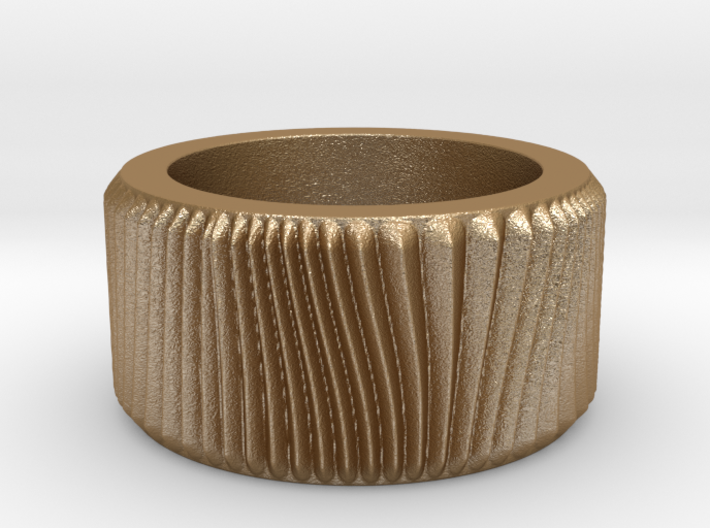 Sand Ring Ring Size 7.5 3d printed