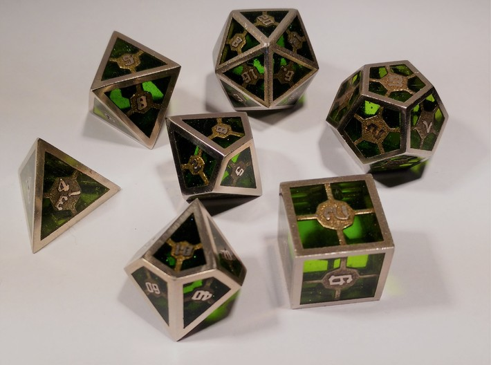 Epoxy Dice Set With Decader 3d printed Epoxy is not printed and has to be added later on by the customer
