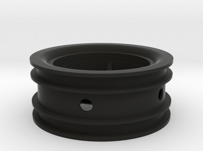 RIM003-00 2.2in Star Wheel, Front, 0mm Offset 3d printed