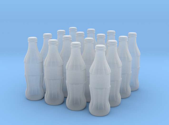 1/24 scale Cola bottles 3d printed