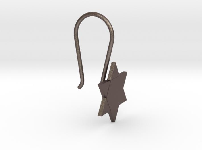 Custom Star Earring With Hook 3d printed