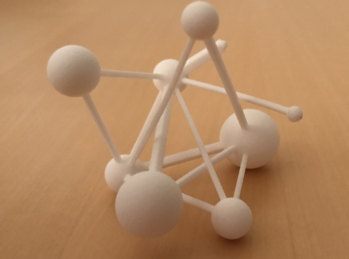 Network Visualization of US Economy by Industry 3d printed