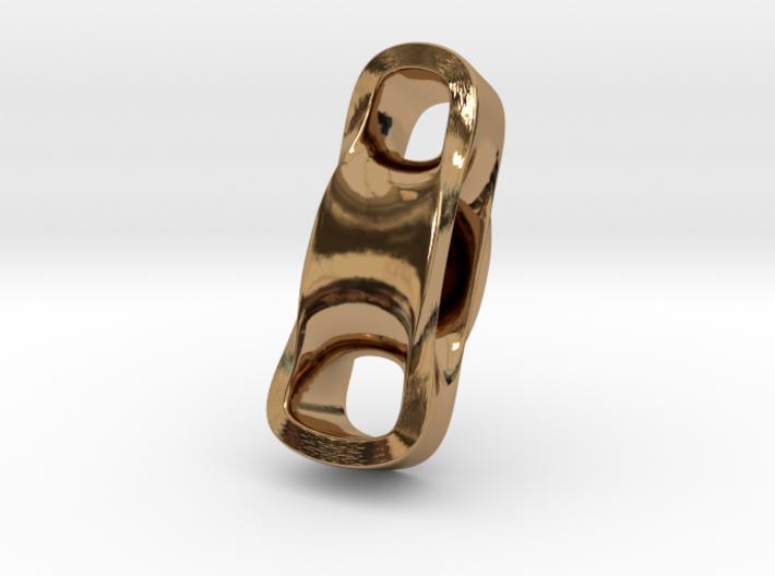Triple Cube Brass 099 3d printed