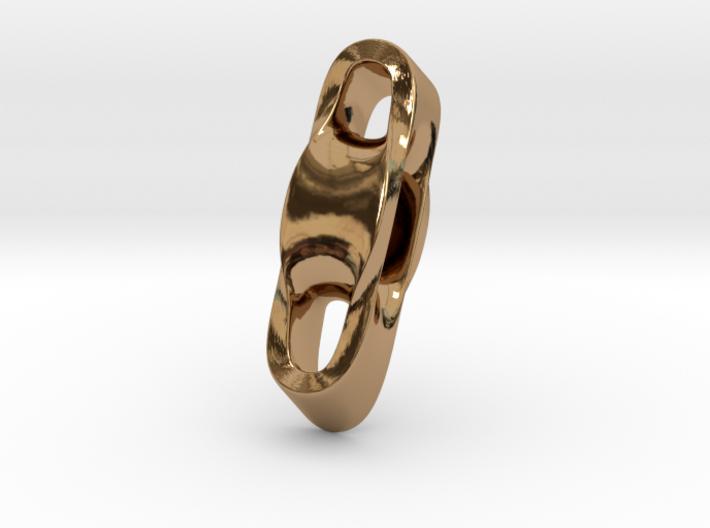 Triple Cube Brass 002 3d printed