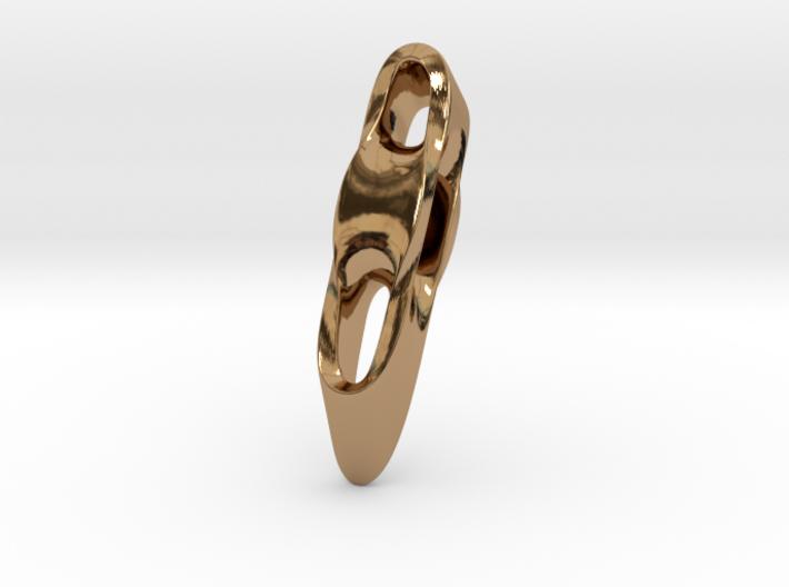 Triple Cube Brass 004 3d printed