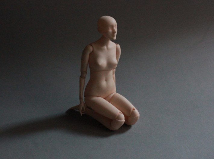 Ball Jointed Doll (One Piece Head) 3d printed When polished and dyed