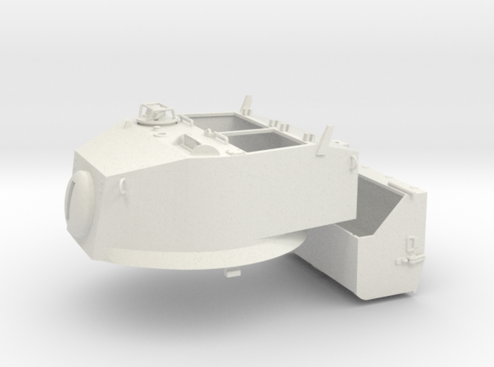 1:16 USA M5A1 Turret & Bustle 3d printed