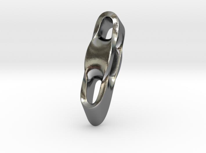 Triple Cube Silver 003 3d printed
