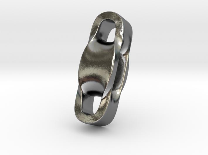 Triple Cube Silver 001 3d printed