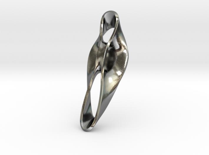 Triple Cube Silver 050 3d printed