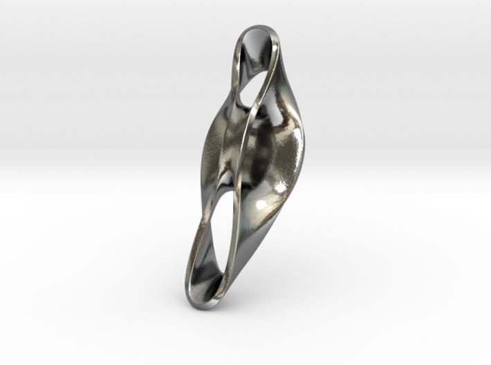 Triple Cube Silver 052 3d printed