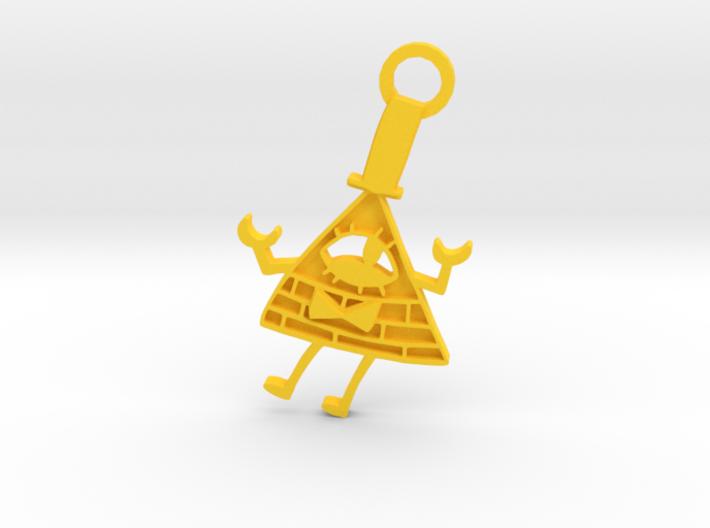 Bill Cipher Keychian 3d printed