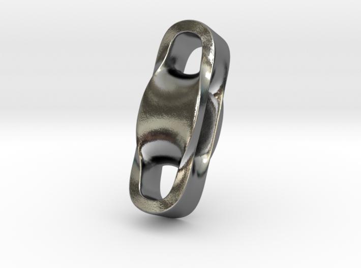 Triple Cube Silver 100 3d printed