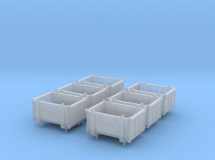 SET 6x Eoskrt 021 Behälter (Roco) (N 1:160) 3d printed