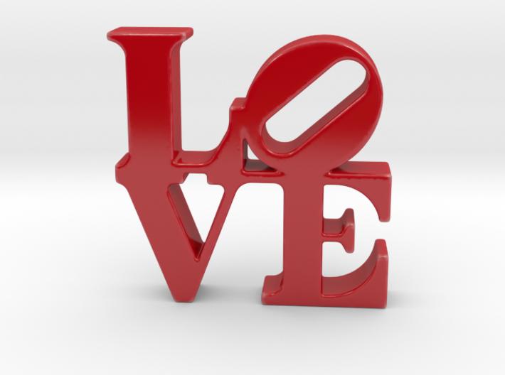 Love Sculpture porcelain 3d printed