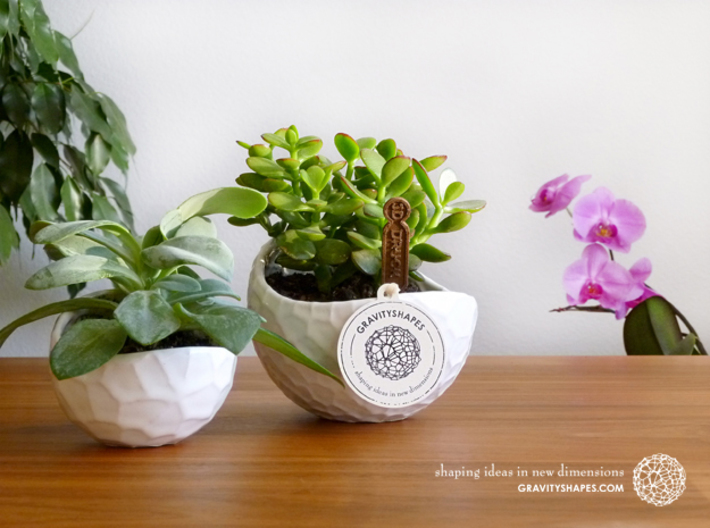 Porcelain plant pot #12 (size small, round) 3d printed Porcelain plant pots #12 small round and #4 XL (Gloss White)