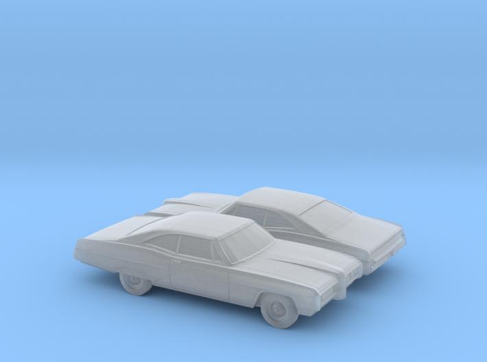 1/160 2X 1968 Pontiac Bonneville Coupe 3d printed