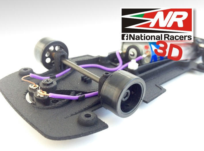 3D chassis - Fly Ford Capri RS Turbo (Combo) 3d printed
