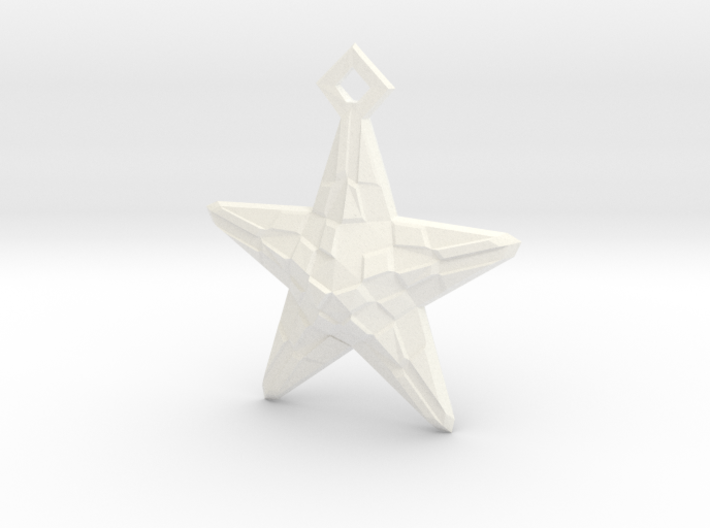 Stylised Sea Star ornament for Christmas 3d printed
