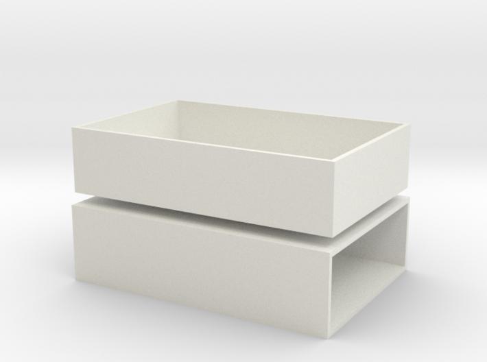 Streichholzschachtel / Matchbox 3d printed