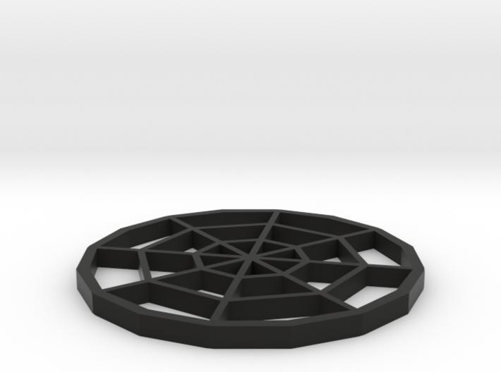 Spiderweb Coaster 3d printed
