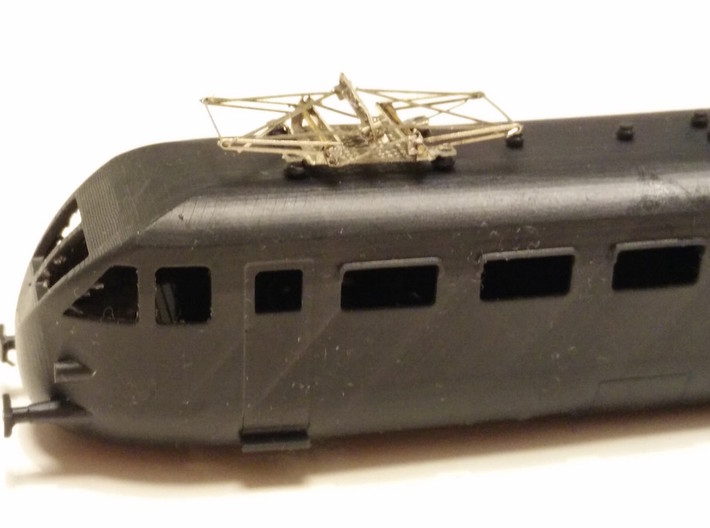 ALe790/ALe880 2a /3a serie 3d printed Tetto con pantografo tipo 42 (ASN/Malinverno)  da acquistare separatamente/ the model is designed to host  the ASN/Malinverno type 42 pantographs (not included)