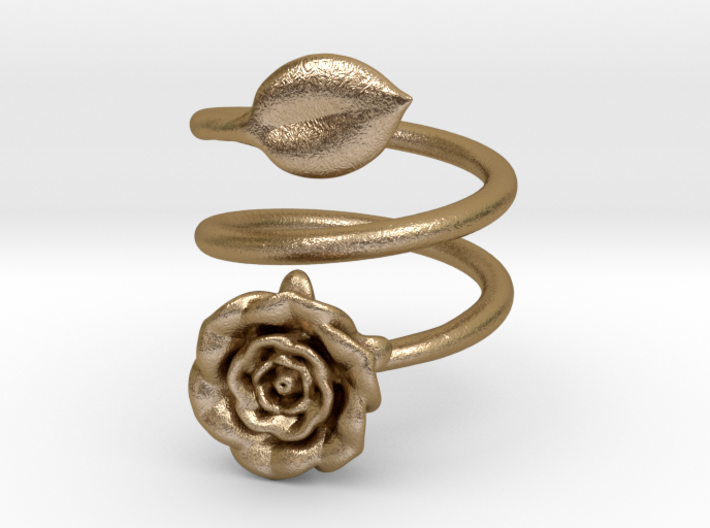 Wrap (Double) Ring - Rose 3d printed