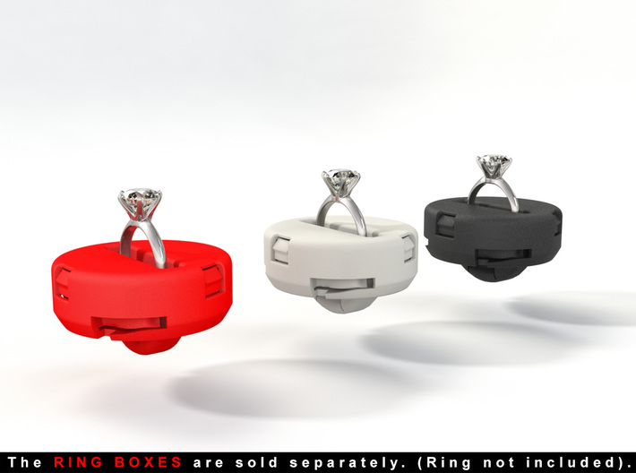 """INSERT RING HOLDER - To """"ALL NEW RING BOXES"""" 3d printed The ring is not included."""
