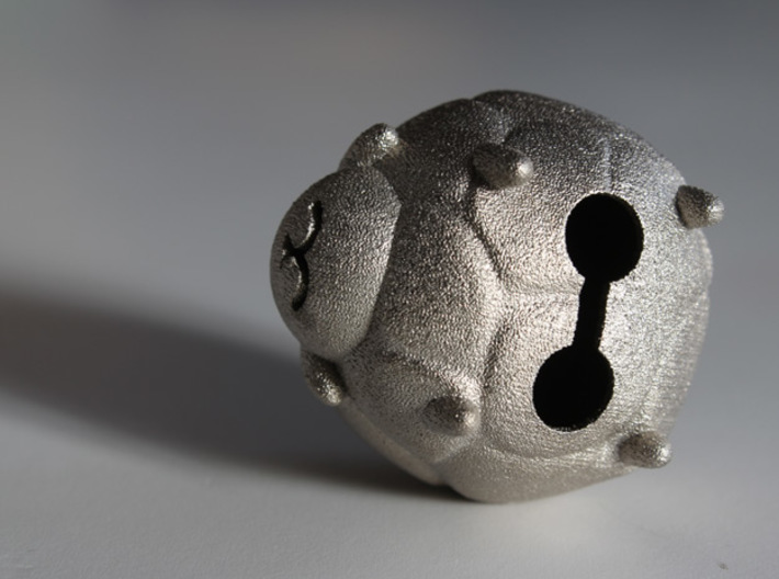 The Lambell 3d printed Polished Nickel Steel