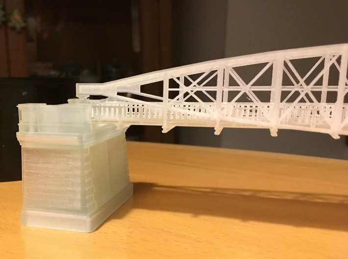 Hoogespoorbrug  Zwolle 3d printed Unpainted print of bridge and bridgehead.