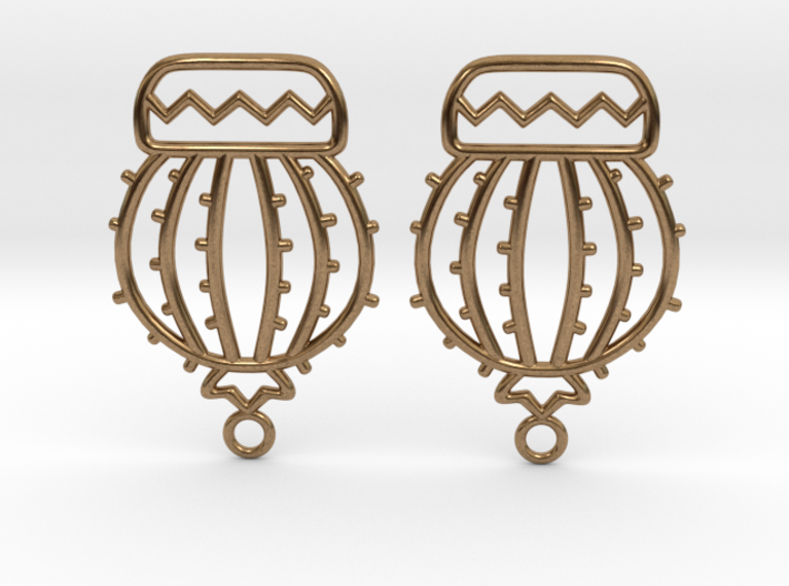Cactus Ball Earrings 3d printed
