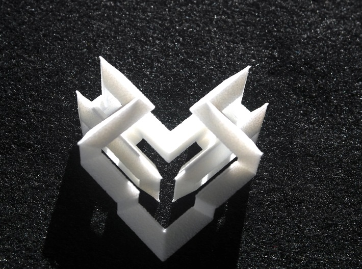 Cubic Heart 3d printed Top view
