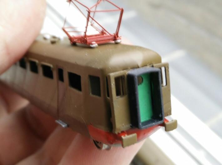 ALe790/ALe880 2a /3a serie 3d printed Parte posteriore con tappo porte posteriori aperte / back  with open door cap