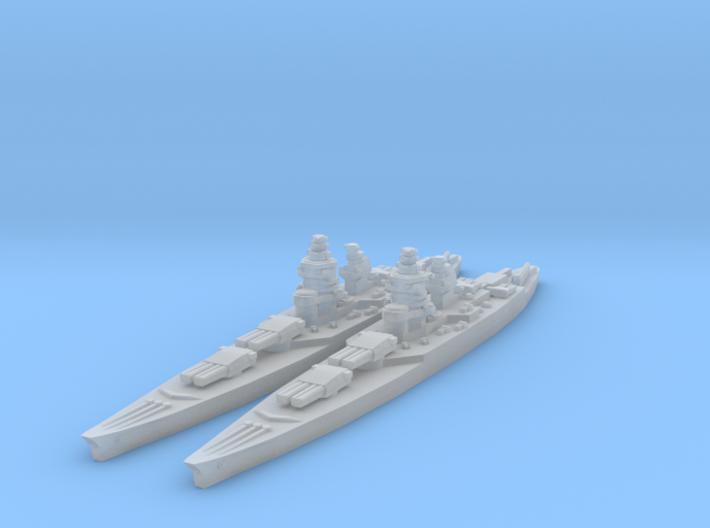 Richelieu class battleship 3d printed