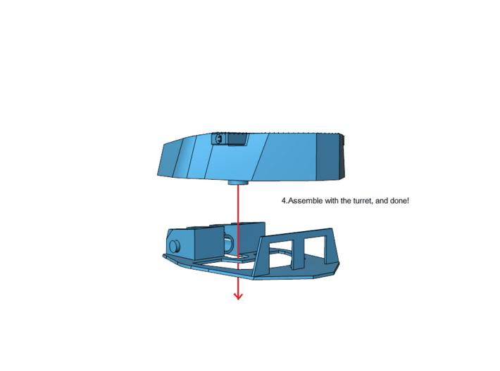 """1/350 Lion Class Battleship 16"""" Gun Turret set 3d printed"""