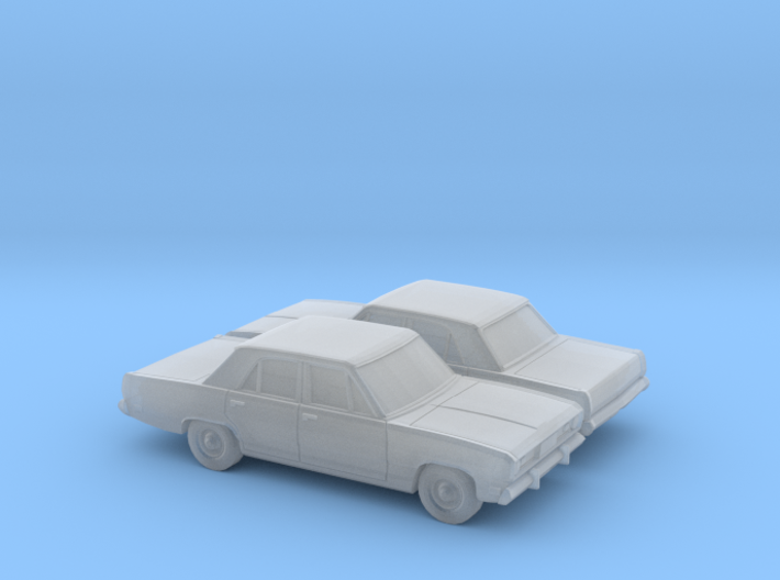 1/160 2X 1970-72 Plymouth Valiant 3d printed