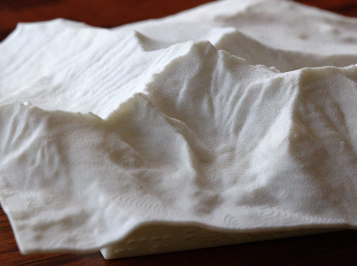 4'' Longs Peak Terrain Model, Colorado, USA 3d printed Photo of actual model from South
