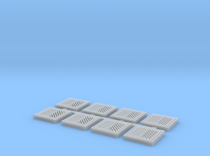 Storm Sewer Grates (HO Scale) 3d printed