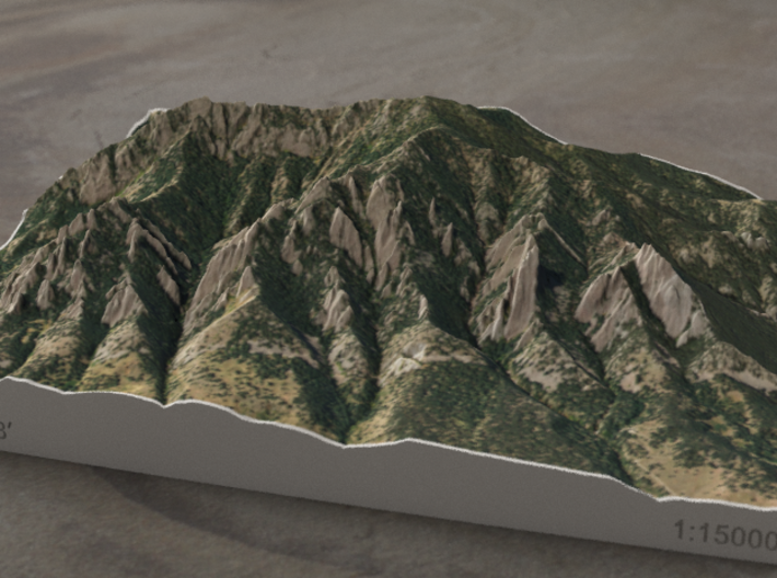 Flatirons, Colorado, USA, 1:15000 3d printed