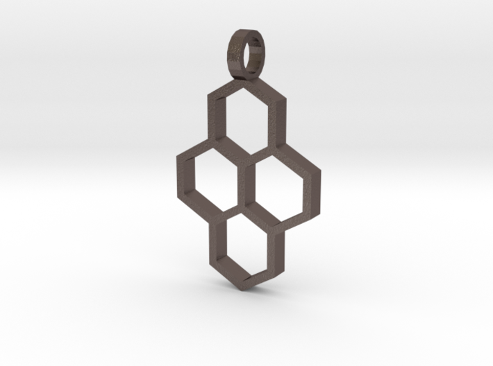 Hex Drop Necklace 3d printed
