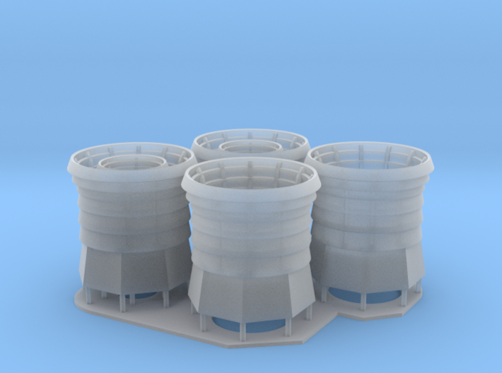 1:128 Burke Class Stack Set 3d printed