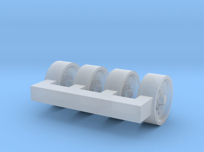 1/87 Ford Truck 10 Hole wheels X 4 3d printed